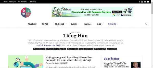 Trang web Thông Tin Hàn Quốc