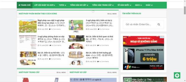 Hàn Quốc Lý Thú - trang web học tiếng Hàn cho người mới bắt đầu