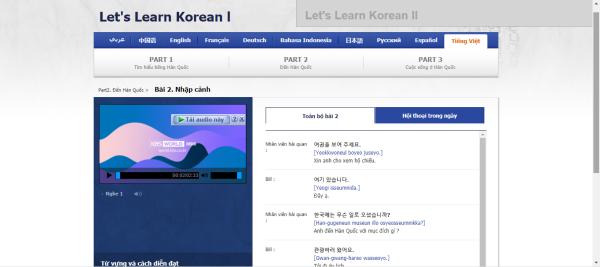 KBS World Radio - trang web học tiếng Hàn online cho người mới bắt đầu