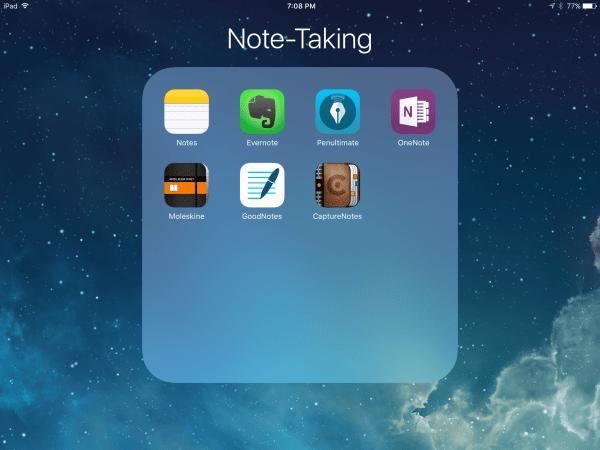 Ứng dụng Take Notes trên iPad
