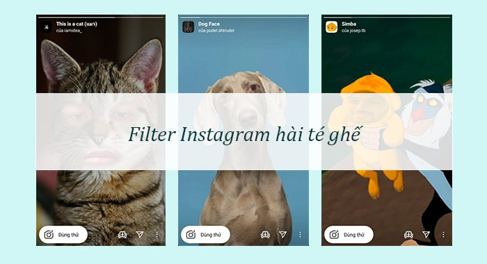 Filter Instagram hai huoc