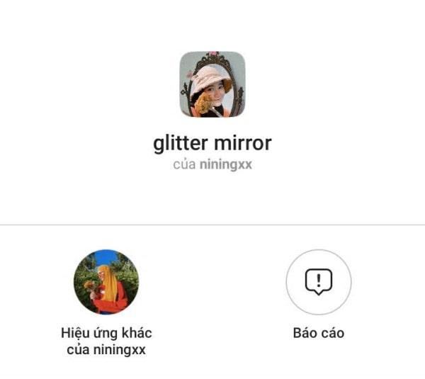 Giltter Mirror