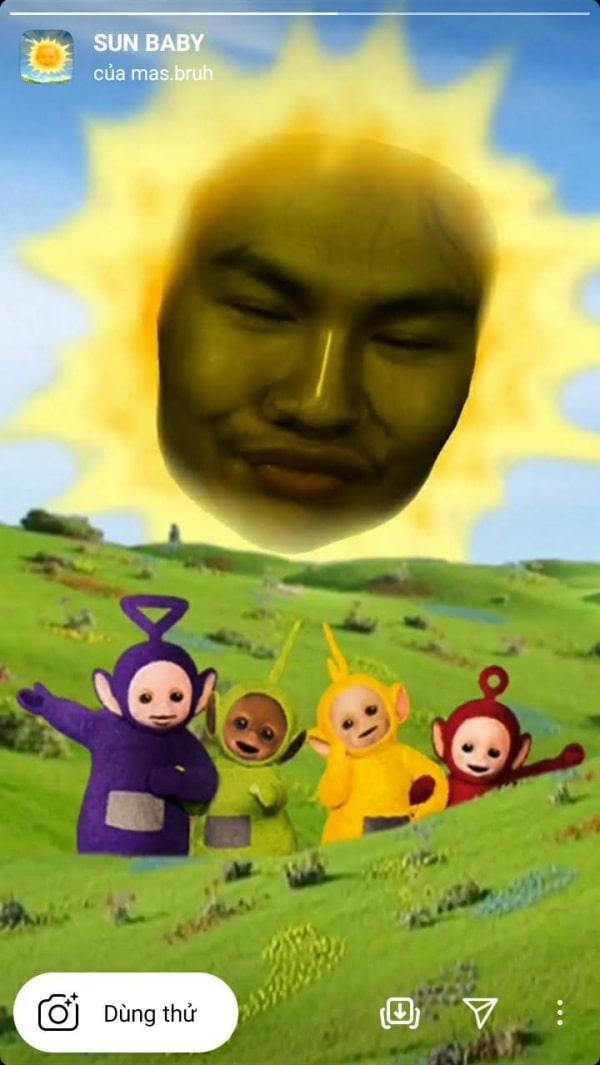 Filter Íntagram hài hước SUN BABY