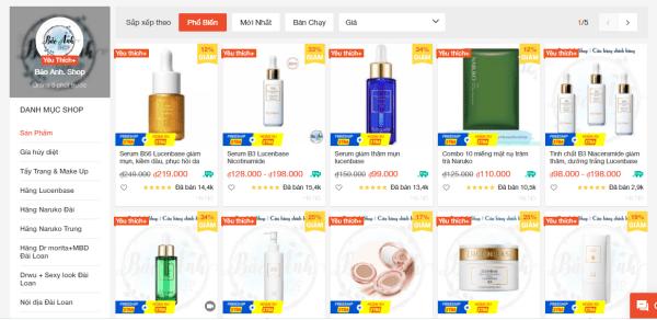 Bảo Anh Shop là shop mỹ phẩm nội địa Trung uy tín trên Shopee