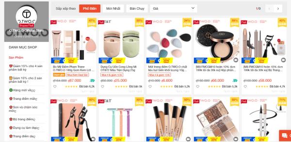 Shop bán mỹ phẩm nội địa Trung uy tín trên Shope