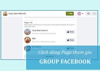 Cách dùng Page tham gia nhóm Facebook