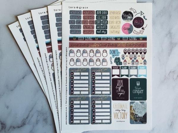 Sticker làm Bullet Journal