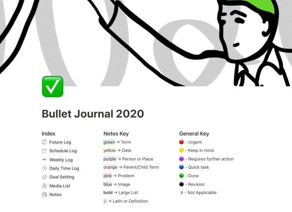 Làm Buller Journal với Notion, tại sao không?