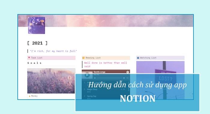 Cách sử dụng app Notion