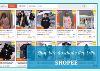 Shop ban ao khoac dep o Shopee