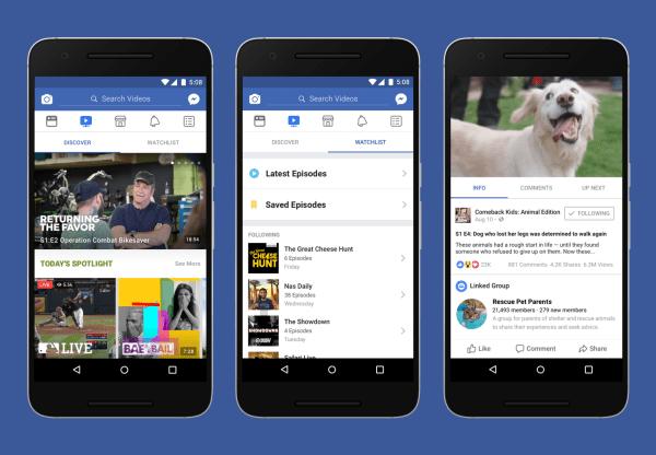 Facebook bị mất phần Watch