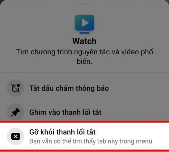 Ẩn Facebook Watch