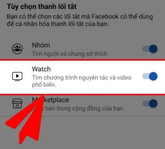 Bật Facebook Watch