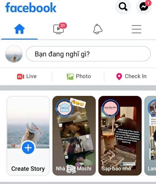 Đặt câu hỏi trên Story Facebook: Bước 1