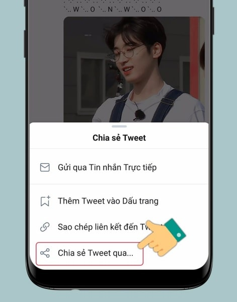 Cách tải GIF Twitter về điện thoại Android
