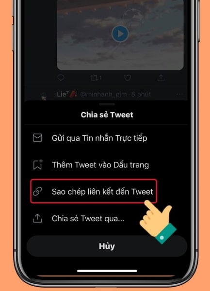 Cách tải GIF Twitter về iPhone