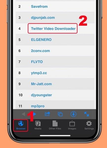 Cách tải GIF Twitter về iPhone: Bước 2