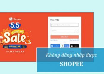 Không thể đăng nhập Shopee