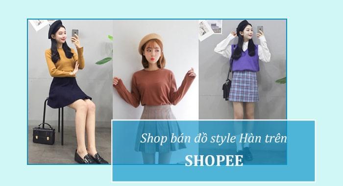 Shop bán đồ style Hàn đẹp trên Shopee