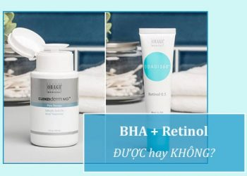 Dùng BHA với Retinol được không?