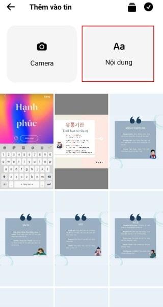Cách đổi Font chữ Story Facebook bằng Messenger bước 1