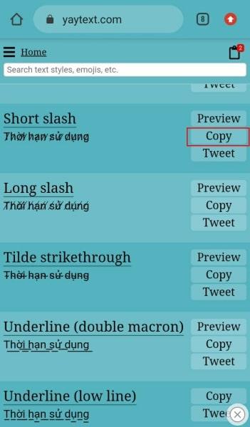 Đổi Font chữ Story với Yaytext.com