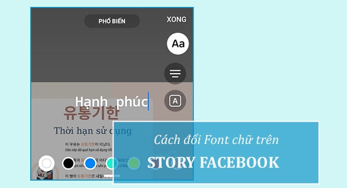 Cách đổi phông chữ trên Story Facebook