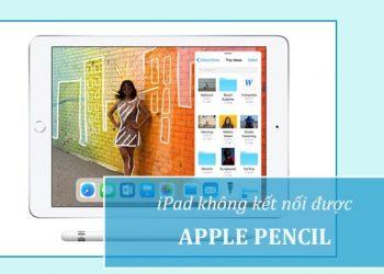 iPad không kết nối được Apple Pencil
