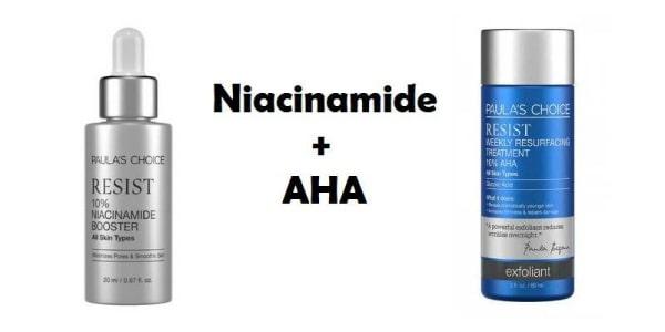 Lợi ích khi dùng Niacinamide với AHA