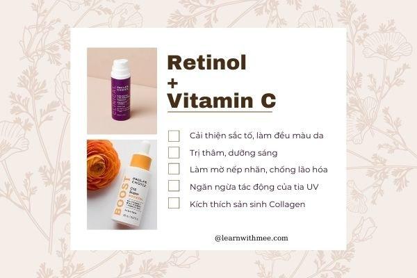 Lợi ích khi kết hợp Vitamin C với Retinol